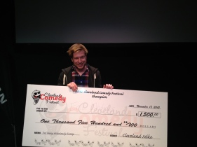 Winning a BIG Cheque at the Cleveland Comedy Festival